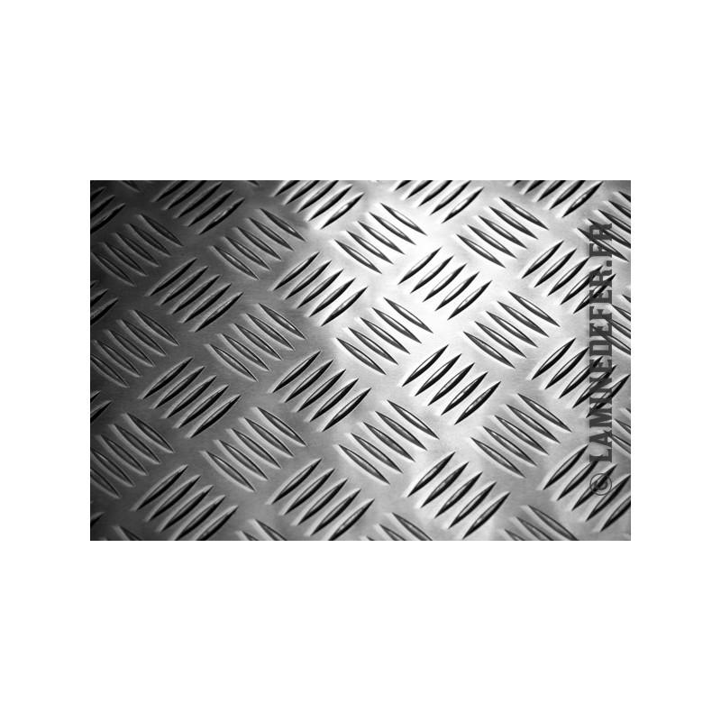 Tôle aluminium à damier - mesures personnalisées
