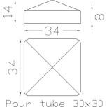 Couvre poteau carré 30 ref.19 261