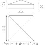 Chapeau couvre poteau carré 40 ref.19 262