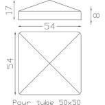 Chapeau couvre poteau carré 50 ref.19 263