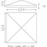 Chapeau couvre poteau carré 120 ref.19 266