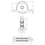 Roue à gorge en V pour Ø80mm support intérieur ref. 19021