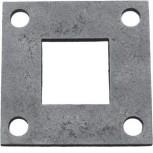 Platine carré 80x80 Réf. 16 108
