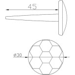 Clou à tête ronde 30x45 Réf. 16155