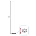 Barreau non percé avec platine Ø100 mm