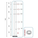Barreau pour 3 câbles et pinces partie basse - départ