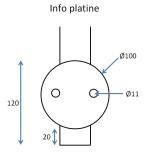 Barreau pose façade 5 trous traversants (usage câble)
