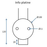 Barreau pose façade 5 trous M6 (usage lisse)