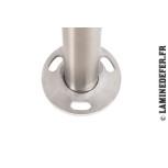 Barreau 1000 mm avec platine Ø100 mm