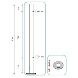 Barreau pour pinces à verre ou à tôle - départ