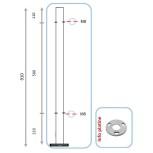 Barreau pour pinces à verre ou à tôle - intermédiaire