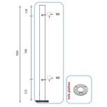 Barreau pour pinces à verre ou à tôle - angle