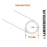 Schéma du tube rond 17.2x2
