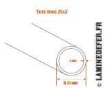 Schéma du tube rond 25x2
