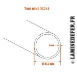 Schéma du tube rond 33.7x2