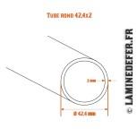 Schéma du tube rond 42.4x2
