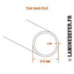 Schéma du tube rond 45x2