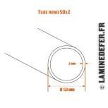 Schéma du tube rond 50x2
