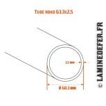 Schéma du tube rond 60.3x2.5