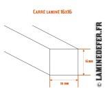 Schéma du carré laminé 16x16