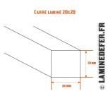 Schéma du carré laminé 20x20