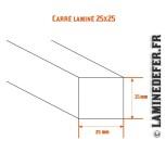 Schéma du carré laminé 25x25