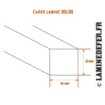 Schéma du carré laminé 30x30