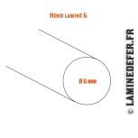 Schéma du rond laminé 6