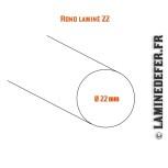 Schéma du rond laminé 22