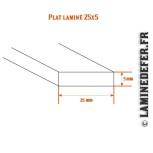 Schéma du plat laminé 25x5