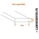 Schéma du plat laminé 50x3