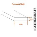 Schéma du plat laminé 50x10