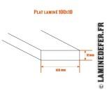 Schéma du plat laminé 100x10