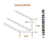 Schéma de cornière 30x30x3