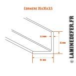 Schéma de cornière 35x35x3.5