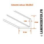 Schéma de cornière inégale 30x20x3
