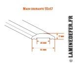 Schéma de la main courante 55x17x4