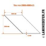 Schéma de la plaque / Tôle fer 2000x1000x1.5