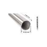 Schéma du tube inox Ø 42.4 mm - 3 mètres