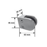 Dimensions de la pince modèle R2 pour tube
