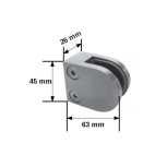 Dimensions de la pince modèle R2 à dos plat