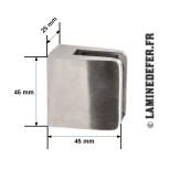 Dimensions pince modèle C1 à dos plat