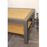 Cadre en cornière acier de 30x30x3 pour plateau de table en bois