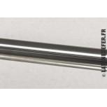 Finition inox brossé - tube rond de 1 mètre