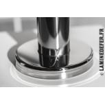 Cache platine - finition inox poli miroir