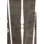 Motif du barreau en fer forgé réf. 573/2 - exemple de finition thermolaquage blanc