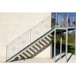 Rampe d'escalier avec barreau en fer forgé réf. GD211/3