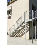 Palier d'escalier en fer forgé avec barreau réf. GD59/2