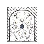 Portail avec motif forgé fleur et feuille réf. 715/1