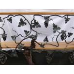 Décor de vigne en fer forgé avec raisins réf. 140/H/2